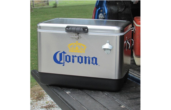 Corona Cooler on Truck Bed