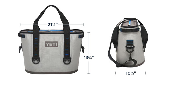 On A Yeti 45 Dimensions - Dimensions Remarkable Project On