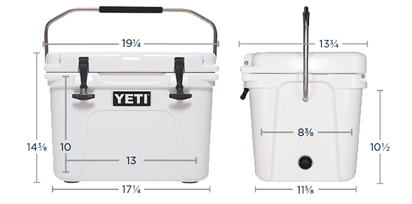 Yeti Roadie 20 Dimensions